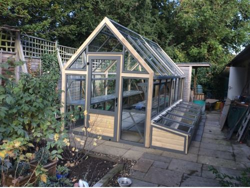 Cold Frame and Custom Potting Shelves