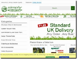 https://simplygardenspares.co.uk/ website