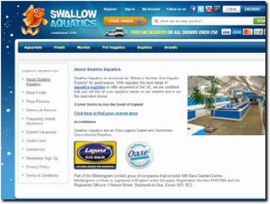 http://www.swallowaquatics.co.uk/ website