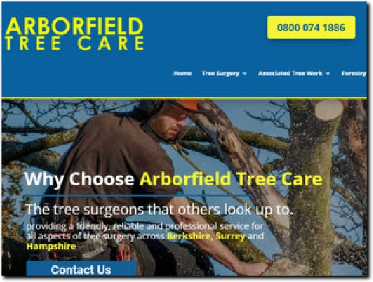 https://www.arborfieldtreecare.co.uk/ website