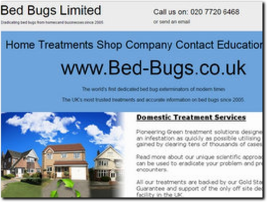http://www.bed-bugs.co.uk website